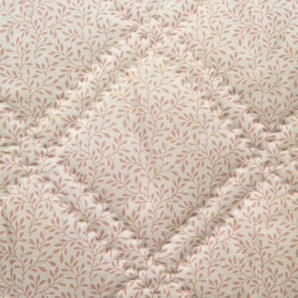 BCP1714 v1 – Leaf vine in pale pink bedcover