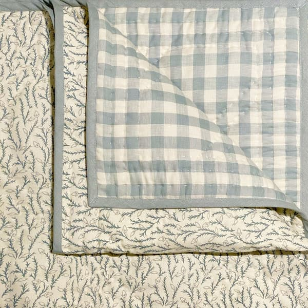 BCP2016 – Fern vine in antique blue with check back