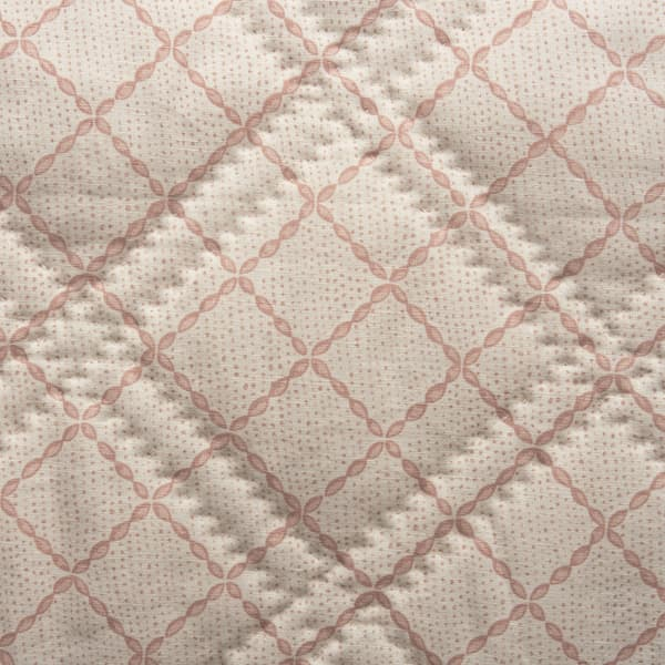 BCP2114 v1 – Trellis in pale pink bedcover
