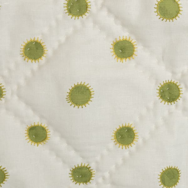 BCP3302 LY v2 – Dots in lime with sun in lime/gold bedcover