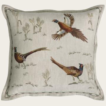 Fleeing pheasants