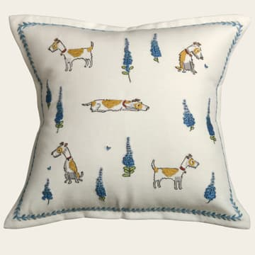 Terriers & delphiniums