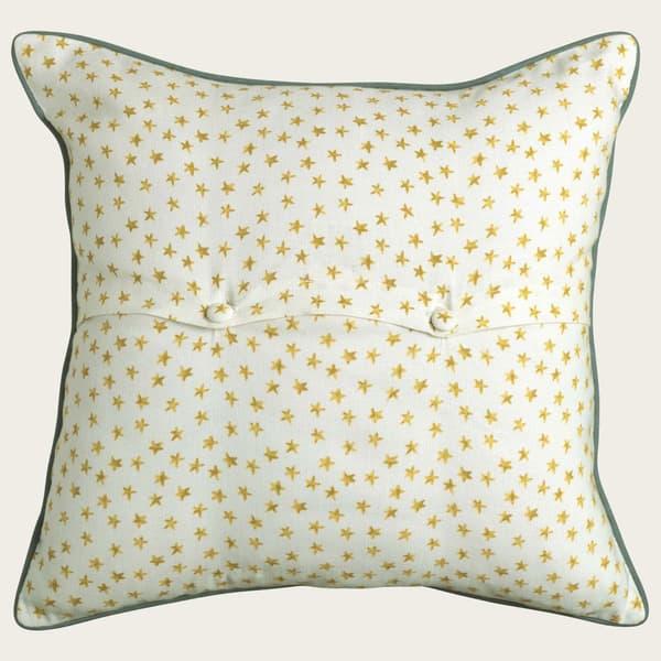 Cp3000 Y Stars – Daisy trellis in indigo/gold