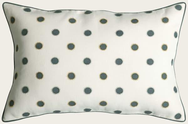 Cp3300 Sy – Dots in indigo with sun in seafoam/gold
