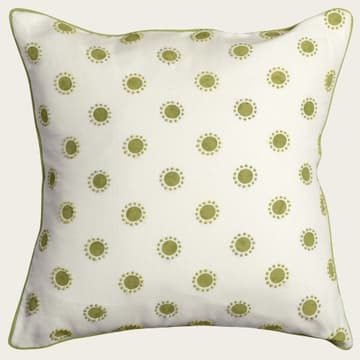 Dots in lime with french knots in lime