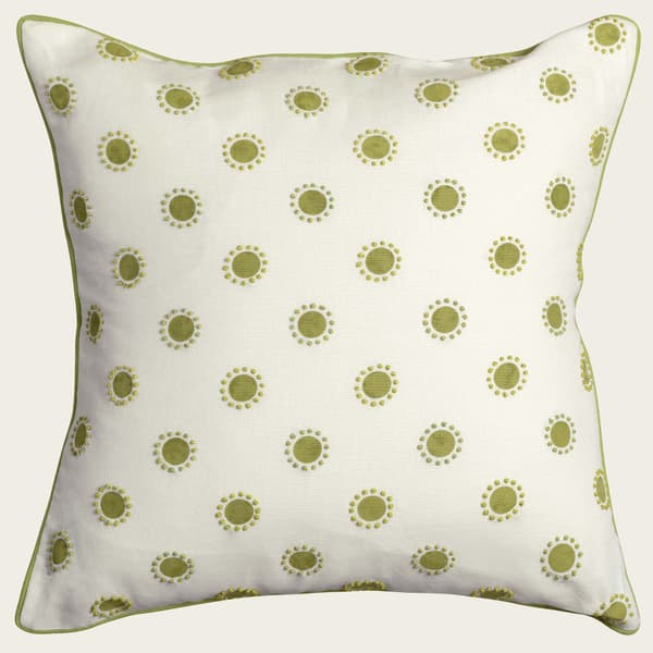 Cp3402 L – Dots in lime with french knots in lime