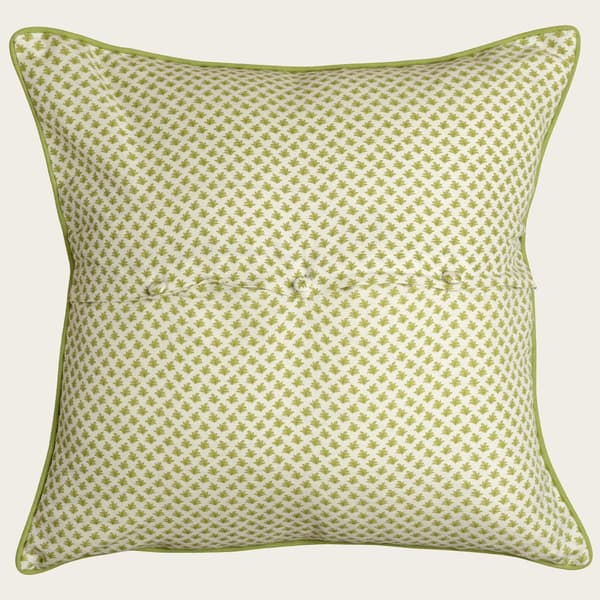 Cp3402 L Fern – Dots in lime with french knots in lime