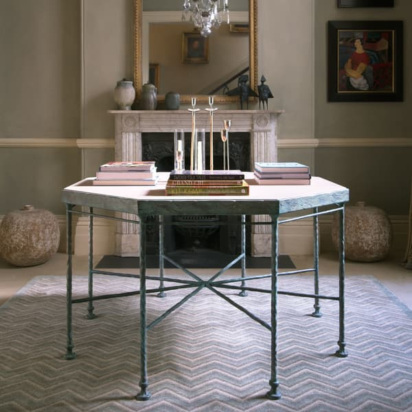 Cast Bronze Octagonal Table Chelsea Textiles Diego Giacometti – Octagonal table