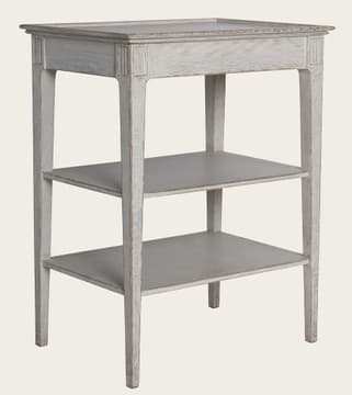 Side table with shelves