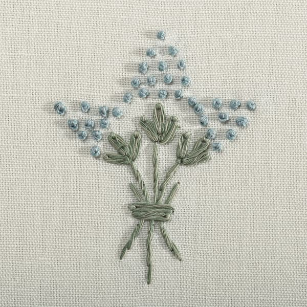 F057 AB Detail1 – Wisteria in antique blue