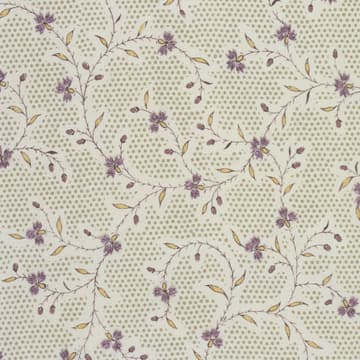 Printed vine with embroidery in mauve