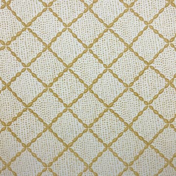 Trellis in faded yellow