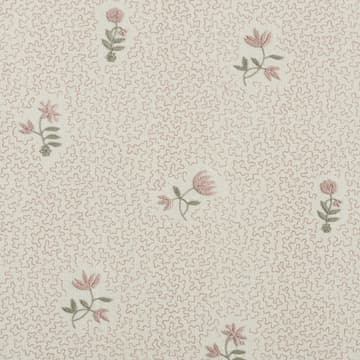 Wild flower on printed squiggles in pale pink