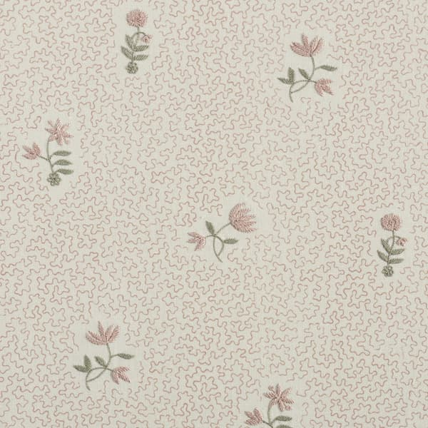 FP3614 PP1 – Wild flower on printed squiggles in pale pink