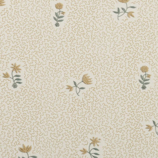 FP3615 FY1 – Wild flower on printed squiggles in faded yellow