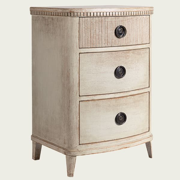 GUS049 B 08a – Bedside table with ribbed top drawer