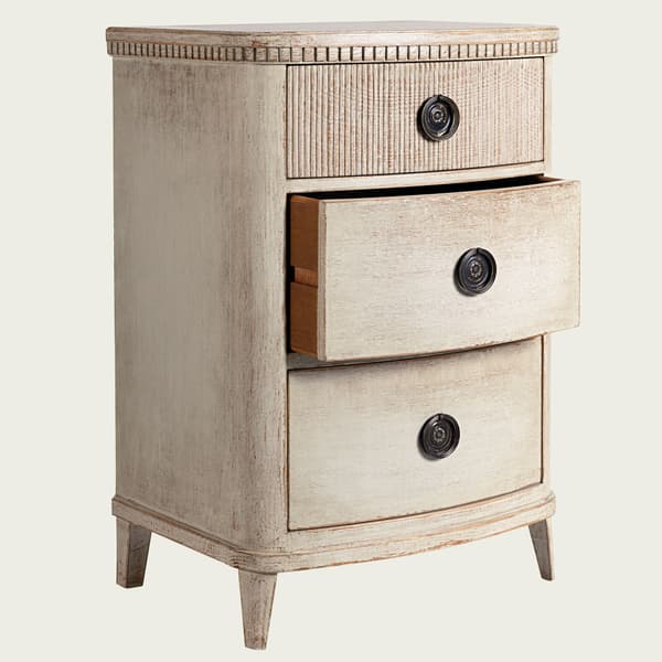 GUS049 B 08ao – Bedside table with ribbed top drawer