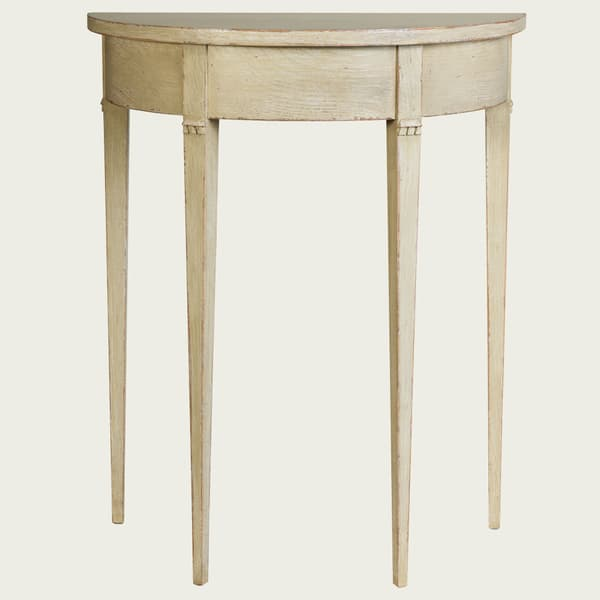 GUS051 SP 07 – Small demi-lune table w/ no drawer