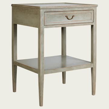 Side table with drawer & shelf