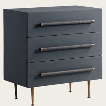 Small chest of drawers with wicker handles