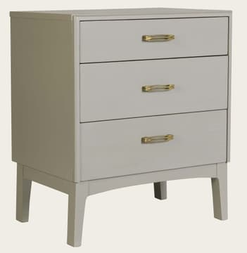 Bedside table with slit handles