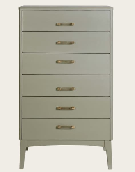 Mid056 13 – Tall chest of drawers with slit handles