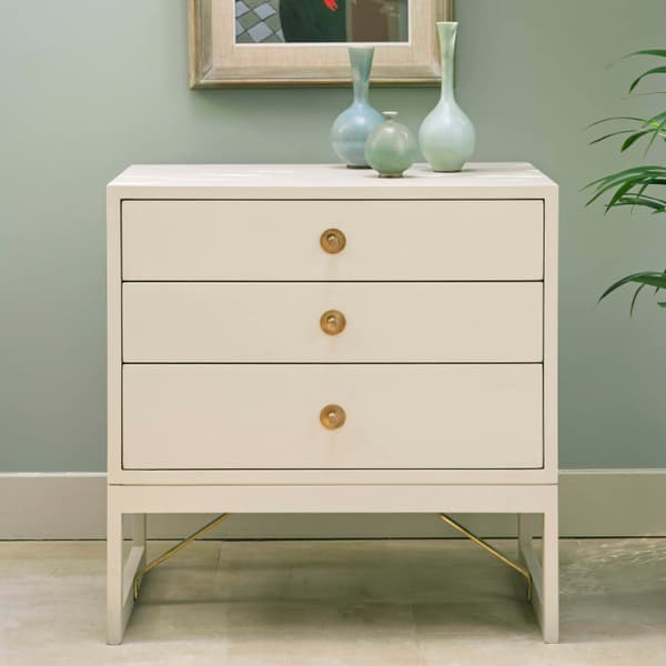 Mid057 B Mid Century Modern – Bedside table with round pulls