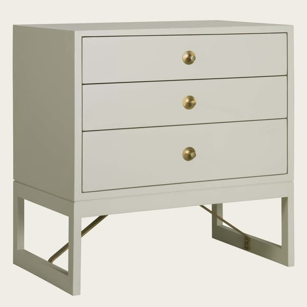 Mid057 B 11A – Bedside table with round pulls