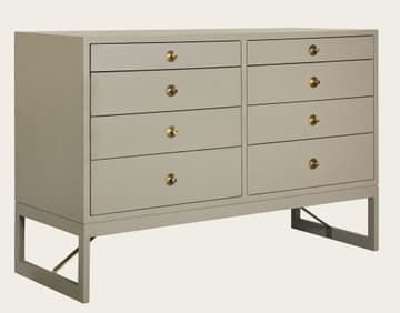 Large chest of drawers with round pulls