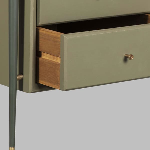 Mid076 Detail V1 – Desk with metal frame & brass trim