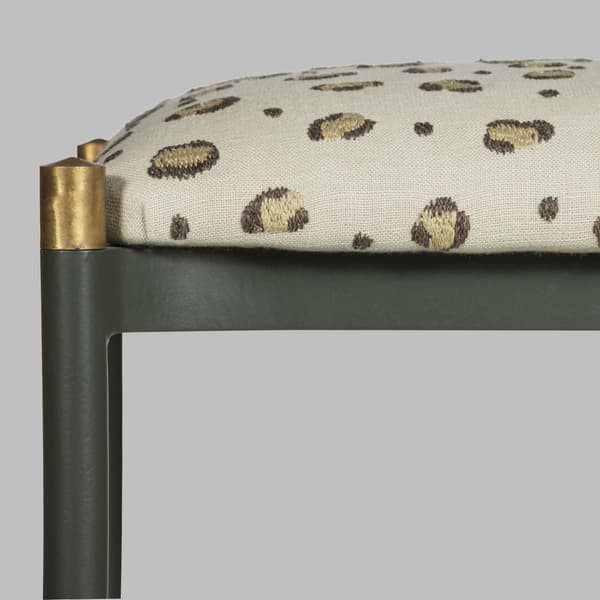 Mid076 Detail V3 – Stool with metal frame & brass trim