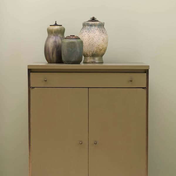 Mid143 Mid Century Cupboard – Brass framed cupboard