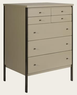 Brass framed chest of drawers