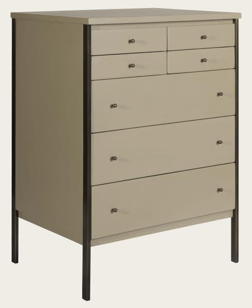 Mid143 A 12A – Brass framed chest of drawers