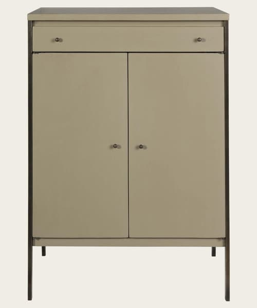 Mid143 12 – Brass framed cupboard