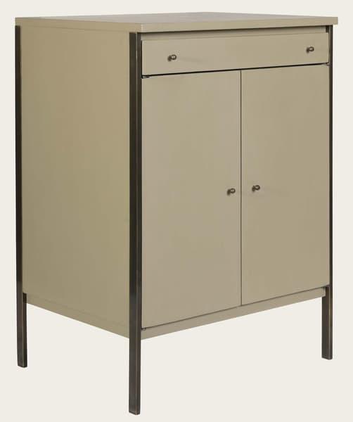 Mid143 12A – Brass framed cupboard