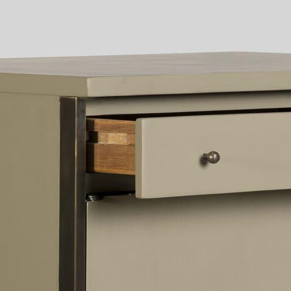 Mid143 12Ao – Brass framed cupboard