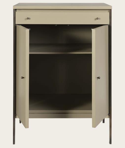 Mid143 12O – Brass framed cupboard