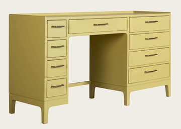 Junior modular desk with nine drawers