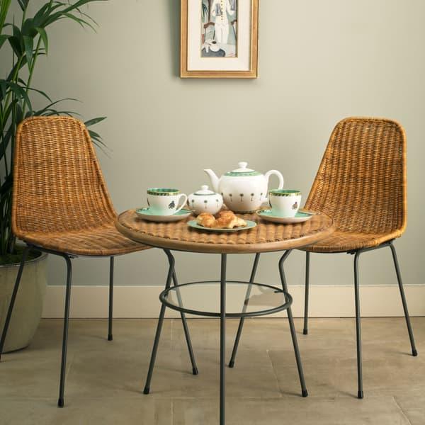 TRO010 TRO082 Chelsea Textiles Tropical furniture collection – Rattan tea table
