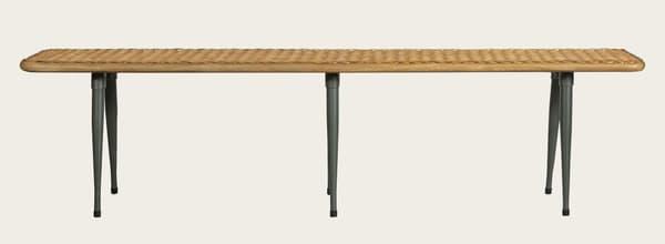 Tro060 – Rattan long bench