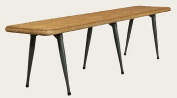 Rattan long bench