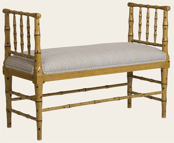 Tro067Ag – Faux bamboo bench