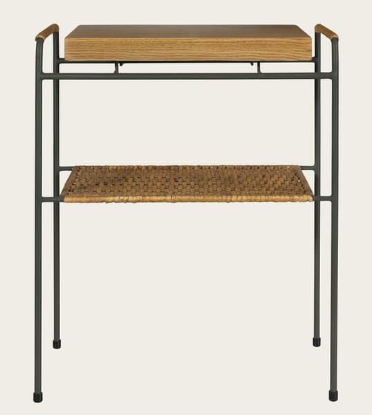 Tro081 – Rattan & wood sofa table