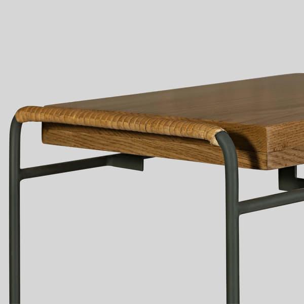 Tro081 D V3 – Rattan & wood sofa table