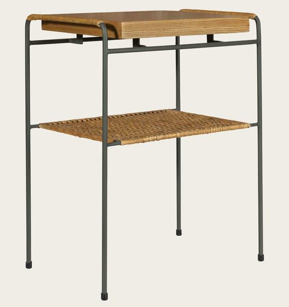 Tro081A – Rattan & wood sofa table