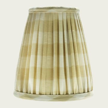 Candle Lampshade in Small Check Faded Yellow