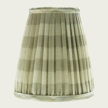 Candle Lampshade in Small Check Sand