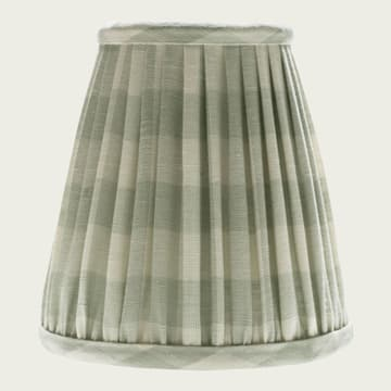 Candle Lampshade Small Check in Seamist