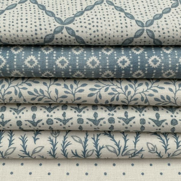 Antique Blue Prints – Raindrops in antique blue